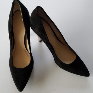 Nine West heels black suede size 6